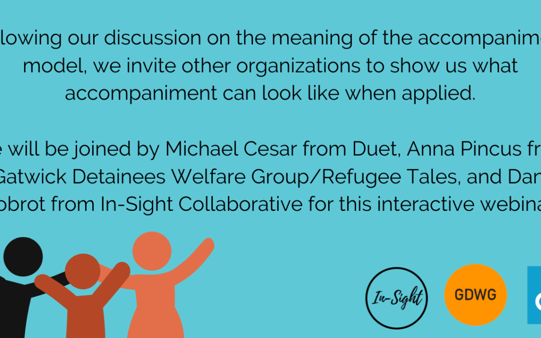 What Does Accompaniment Look Like? GDWG is joining Insight Collaborative for an interactive webinar